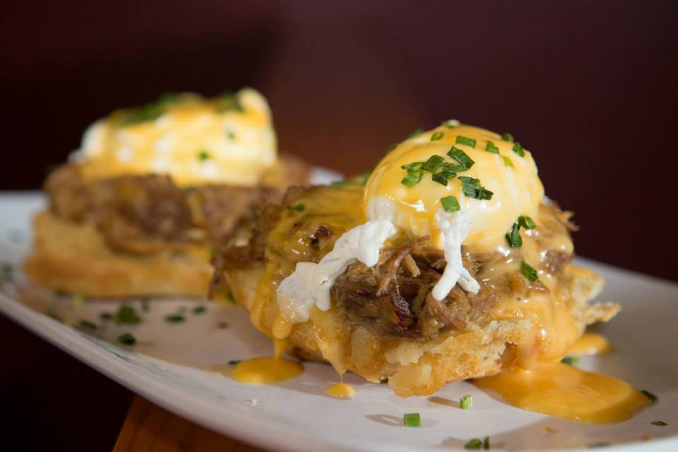 A variation on Eggs Benedict from Ruby Slipper Cafe. (Photo via Ruby Slipper Cafe - CBD on Facebook)