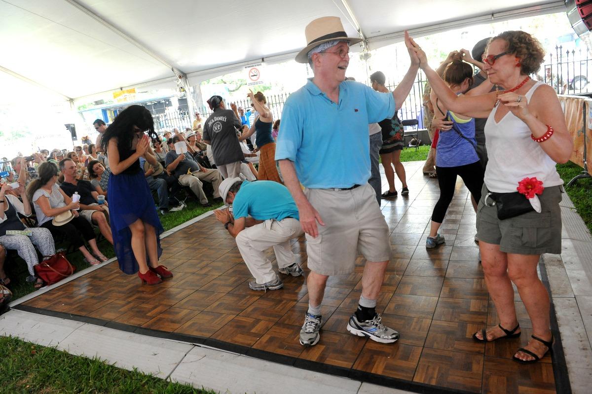 Jazz dancing lessons at Satchmo SummerFest. (Photo: Cheryl Gerber)