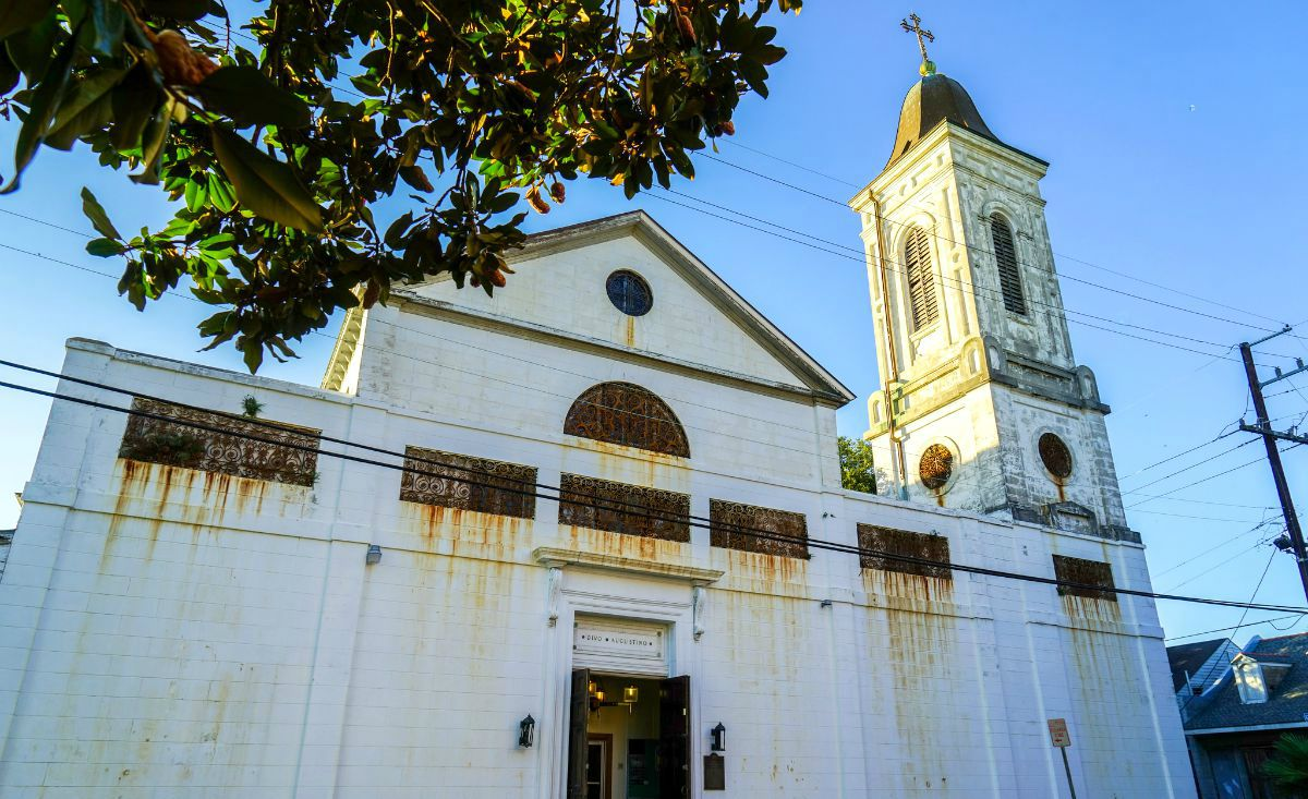 The exterior of St. Augustine Church. (Photo: Paul Broussard)