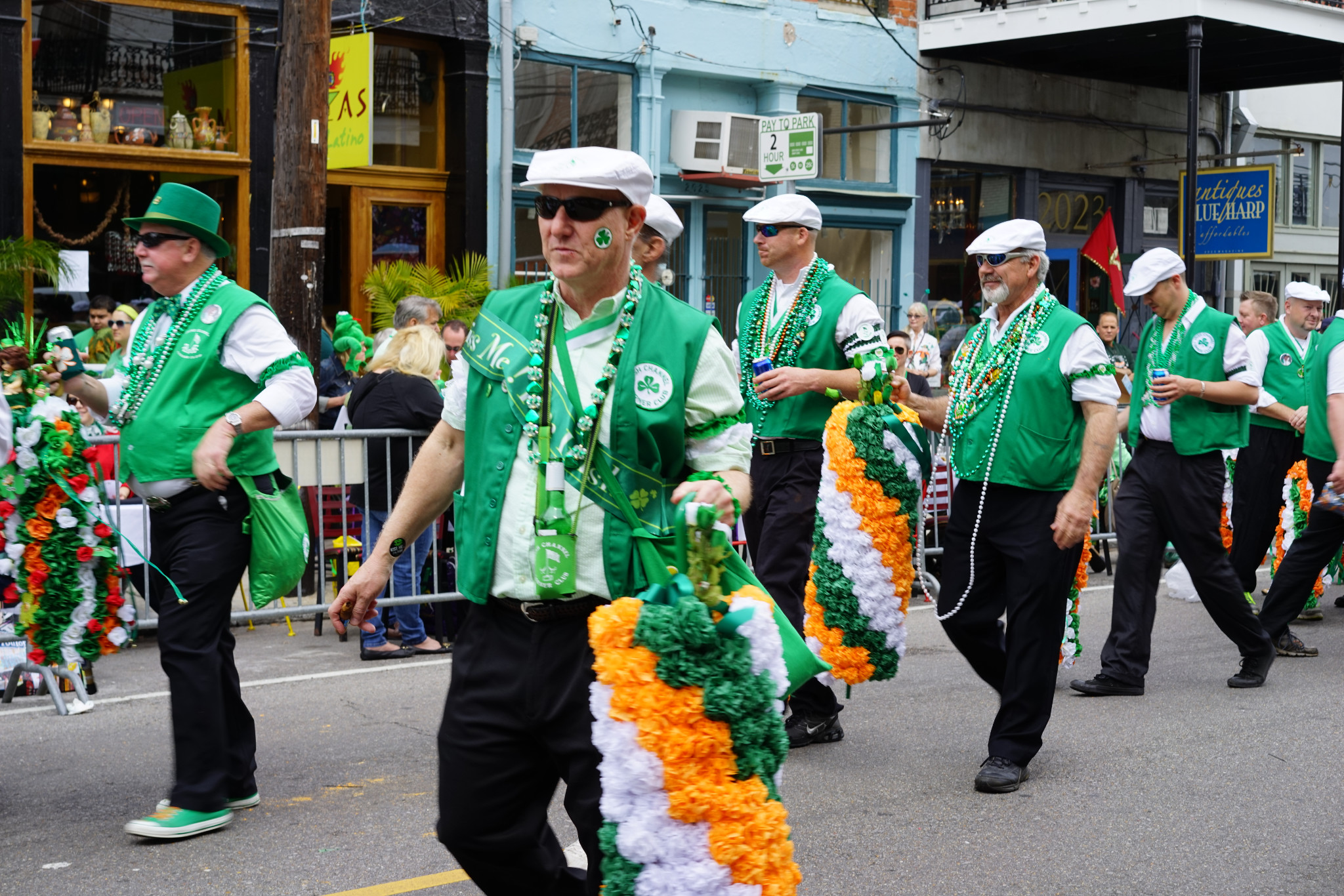 Lucky lasses and lads might get a flower during the St. Patrick's Day Parades. Real cabbages are another coveted catch. (Photo: Paul Broussard)
