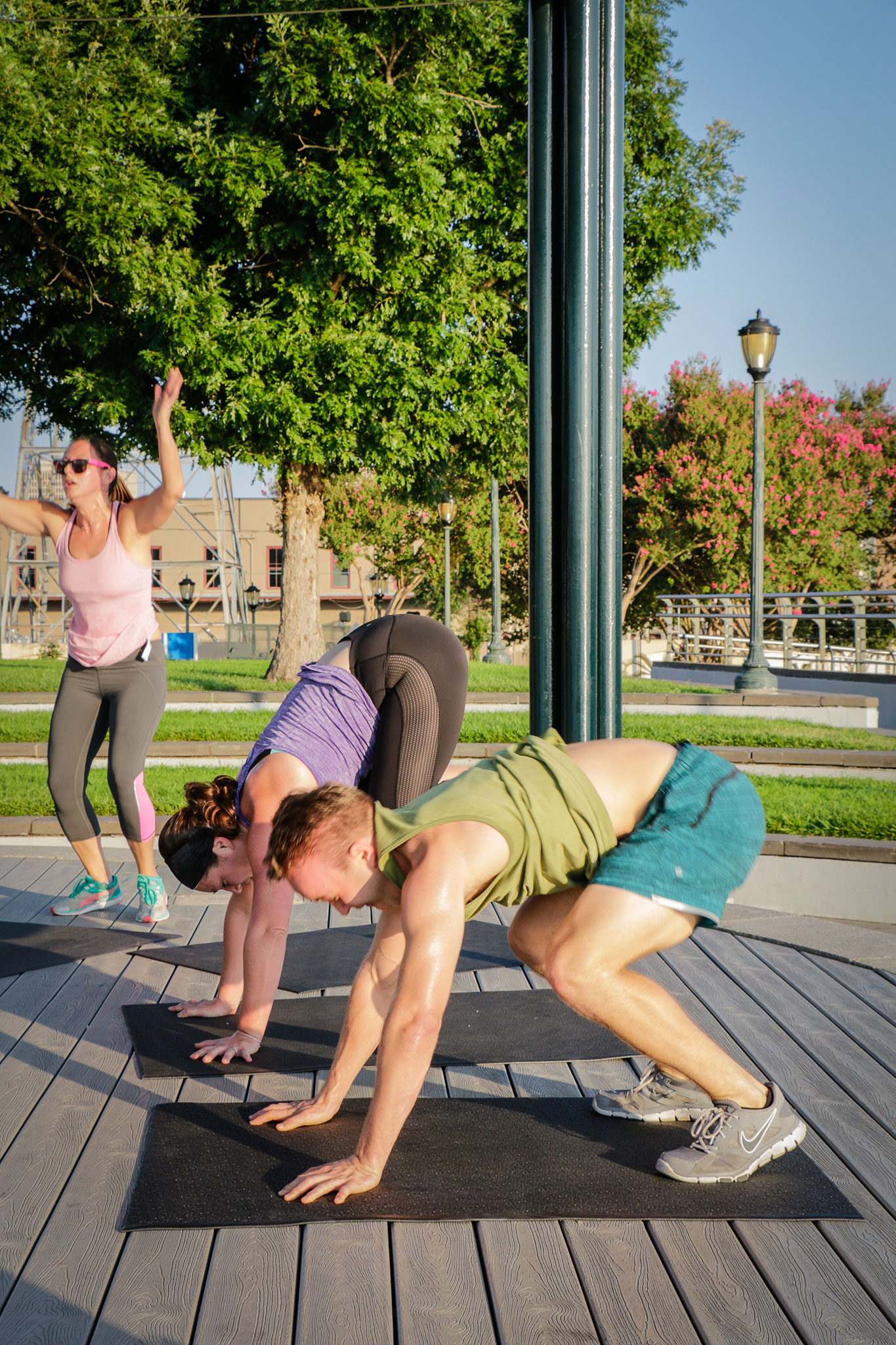 Participants of The Sweat Social make the most of a 30-minute workout. (Photo: Rebecca Ratliff)