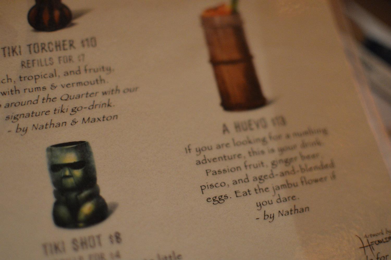 Tolteca menu