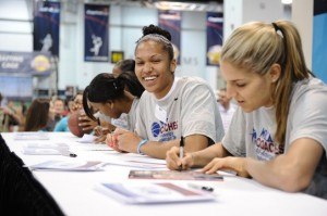 Get an autograph from your favorite player at Tourney Town! (Photo courtesy of ncaa.com)