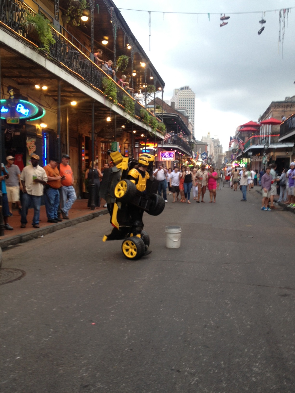 French Quarter street performer, the Human Transformer. Photo by Sally ...